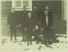 Aarne, Albin, Liida, Onni, Veikko, Hilja ja Eino.