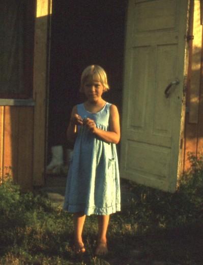 Paula Pienenmäen ovella.